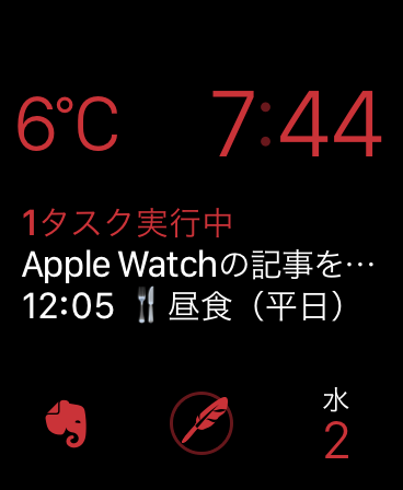 Apple Watch文字盤